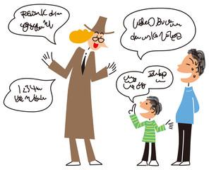 外国語を話す子供