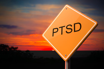 PTSD on Warning Road Sign