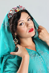 Adult woman in arabian dress