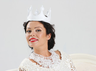 Adult woman in crown