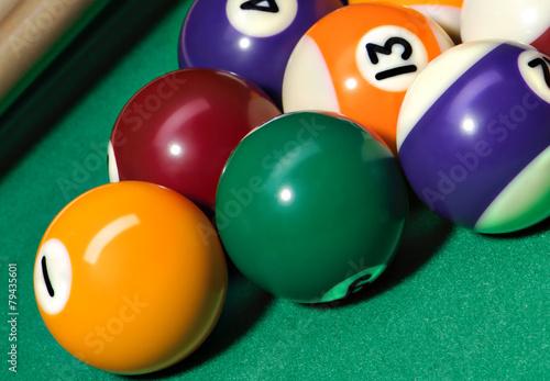 Staande foto Billiard balls - pool