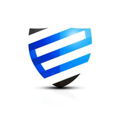 Niebieska ikona e-tarczy