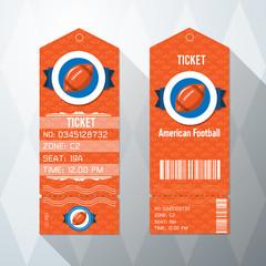 American Football Ticket Card design