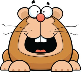 Cartoon Hamster Happy