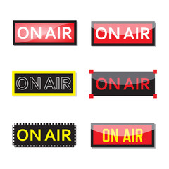 Set of on air sign.
