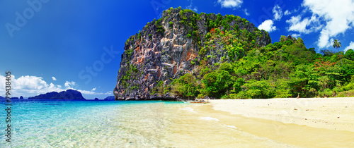 tropical tranquil scenery. Philippines El-nido