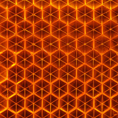 Orange Retroreflector Macro