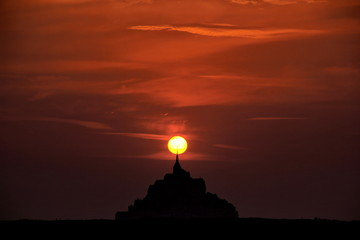 Mont Saint-Michel in Sunset