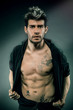 Portrait of man with great abdominal muscles