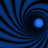 Naklejka blue abstract spiral