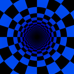 psychedelic blue tunnel