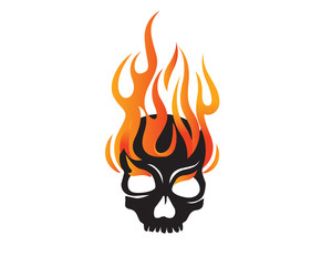 Skull Fire Logo Icon
