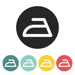 Ironing symbol icon.