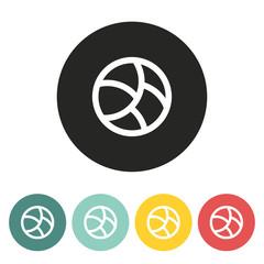 Basketball ball icon.
