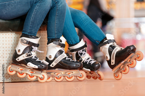 Beautiful girls on the rollerdrome - 79440479