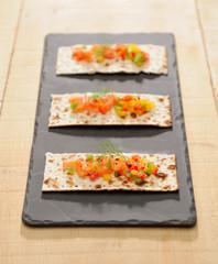 tartare de saumon au poivron