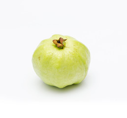 Fresh guava on the white background