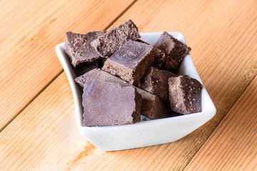 raw chocolate blocks