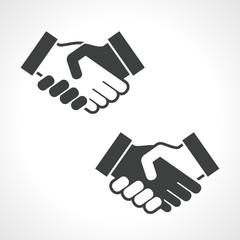 Black Handshake Vector Icon