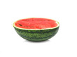 Ripe water water melon isolated on the white background