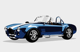Classic sport blue car AC Shelby Cobra Roadster