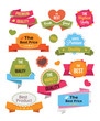 Vector Stickers Labels and Badges Set