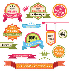 Premium Vector Badges and Labels