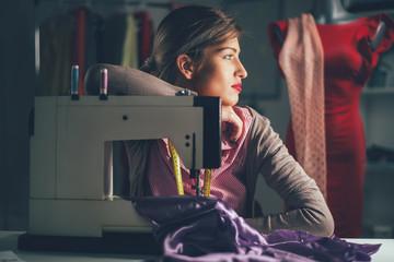 Young Fashion Designer Thinking