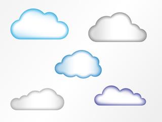 Wolkensymbole mit Verlaufseffekt