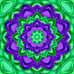 Green purple kaleidoscope