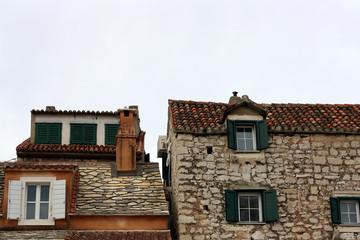 Old traditional houses in Split, Croatia.