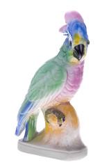 Porcelanowa papuga