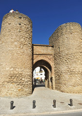 Puerta de Almocábar, murallas de Ronda, España