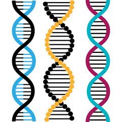 DNA design, vector illustration.