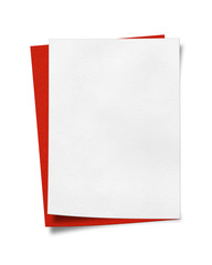 Blank White and Red Paper