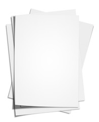 Blank White Paper (Clipping Path)