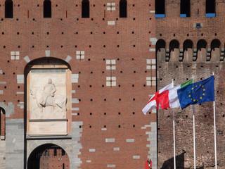 Castello Sforzesco in Milan, Italy.