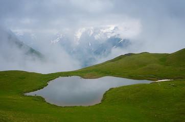 Mountain lake in Georgia
