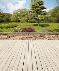 Gartenterrasse japanisch