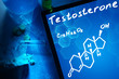 Tablet with the chemical formula of testosterone. - 79453012