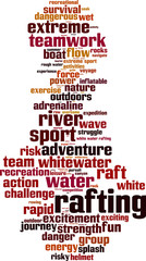 Rafting word cloud concept. Vector illustration