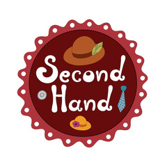 Second hand shop vector illustration
