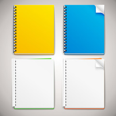 Vector Spiral Ring Notebooks