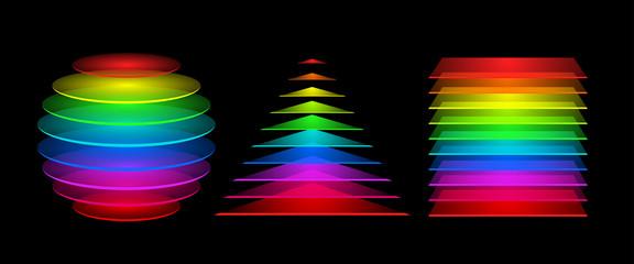 Colorful geometrical figures