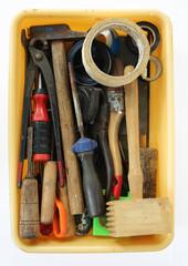 box with many tools