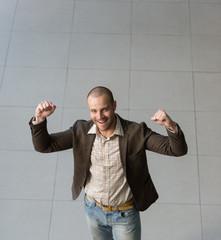 Successful positive businessman