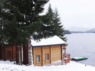 Hut at Lake Coast