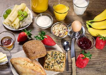 Zutaten für ein ausgewogenes Frühstück am Sonntag