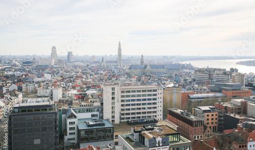 Keuken foto achterwand Antwerpen Aerial view on the center of Antwerp, Belgium