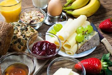 gedeckter Frühstücksisch